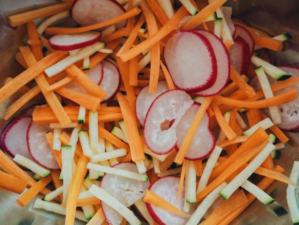 Rezept // bunter Kichererbsen Salat